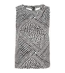 Black and white stripe jacquard shell top £28.00