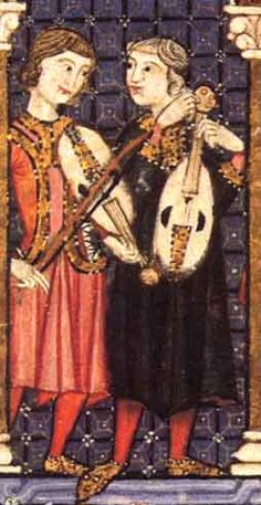 Vièle dans les Cantigas de Santa Maria Early Music, Old Music, Medieval Music, Medieval Clothing, Medieval Manuscript, Illuminated Manuscript, Luther Rose, High Middle Ages, Music Artwork