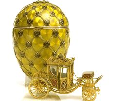 """The Concise History of Fabergé Eggs: """"Coronation Egg"""" from Nicholas II to Alexandra, Easter, 1897"""