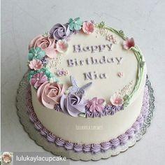 Super Ideas for birthday cake flower decoration buttercream roses Cake Decorating Designs, Cake Decorating Techniques, Cake Designs, Decorating Ideas, Simple Cake Decorating, Birthday Cake Decorating, Torte Rose, Rose Cake, Buttercream Flower Cake