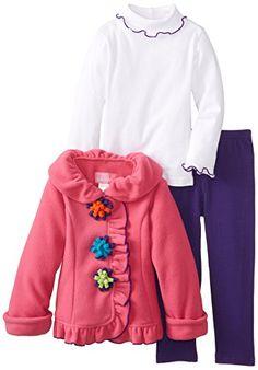 Good Lad Little Girls' 3 Piece Jacket Legging Set
