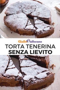 Torta tenerina Tender cake: a delicious chocolate cake, prepared with few ingredients and WITHOUT YEAST which has the particularity of remaining low and moist inside. A simple recipe to make, with guaranteed success! [Easy no yeast chocolate cake recipe] Best Vegan Chocolate, Tasty Chocolate Cake, Chocolate Pies, Gourmet Recipes, Sweet Recipes, Cake Recipes, Dessert Recipes, Party Desserts, Healthy Sweet Snacks