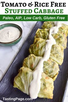 This tomato-less stuffed cabbage with cashew cream is great for St. Patrick's Day or any day of the year. It's dairy free, rice free, and nightshade free so it's perfect for an AIP or Paleo friendly meal. Paleo Recipes, Real Food Recipes, Free Recipes, Easy Recipes, Grilled Cabbage, Clean Eating Recipes, Eating Paleo, Paleo Diet, Cashew Cream
