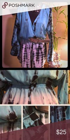 NWT Alisha & Chloe Tie-Dyed Faux Wrap Romper Sz M Please feel free to ask questions... Alisha & Chloe Dresses