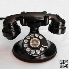 ANTIQUE AMERICAN TELEPHONE DESKTOP (Western Electric Co. ) 1934. Mod. 202