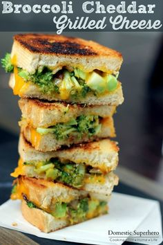 So I know I just posted a recipe for Gluten Free Buffalo Chicken Grilled Cheese last week, but what can I say….we like grilled cheese!  I made this broccoli and cheddar grilled cheese a few we...
