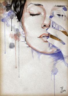 MoP_Wine&Whisky_03, Media: Watercolor on paper, Size: A4 (21 x 30 cm) by Miro Zgabaj https://www.facebook.com/pages/Miroslav-Zgabaj-Drawing-Painting/114161501988357?ref=aymt_homepage_panel