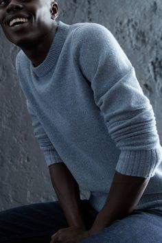 7eec862da771e7 All smiles in the It All smiles in the Italian Merino Wool Crew Neck Sweater .