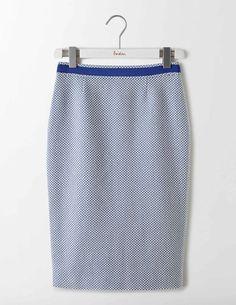 Textured Modern Pencil Skirt (Navy)