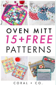 Find your favorite Oven Mitt Pattern to sew! This fun list of 15+ Awesome Oven Mitt Patterns is full of great patterns that are easy to sew and totally adorable. Make one now! #beginnersewing Easy Sewing Projects, Sewing Projects For Beginners, Sewing Tutorials, Sewing Crafts, Sewing Ideas, Sewing Tips, Potholder Patterns, Sewing Patterns Free, Free Sewing