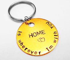 Home is Wherever Im With you Keychain, Hippie Gift, Boyfriend Girlfriend, For Him, For her, Birthday Anniversary Gift Idea via Etsy