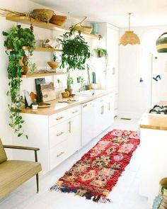 Bohemian kitchen.