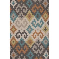 Flatweave Tribal Pattern Gray/Ivory Wool Area Rug (9x12)   Overstock.com Shopping - The Best Deals on 7x9 - 10x14 Rugs