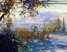 Painting by French artist Laurent Parcelier; i can feel the air here Figure Painting, Painting & Drawing, Watercolor Landscape, Watercolor Paintings, Gravure Photo, Edward Hopper, Wow Art, French Artists, Light Art