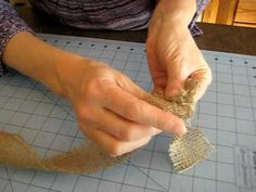 how to make a burlap rose... Gotta do this now!!!