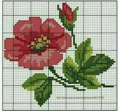 This Pin was discovered by zey Mini Cross Stitch, Cross Stitch Borders, Cross Stitch Rose, Cross Stitch Flowers, Counted Cross Stitch Patterns, Cross Stitch Designs, Cross Stitching, Cross Stitch Embroidery, Embroidery Patterns