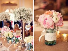 Centerpiece, peonies, roses, ranunculus (on the right)