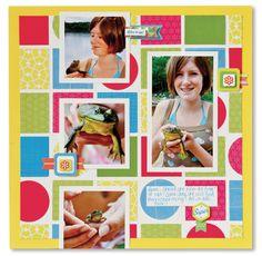 Shape Maker System Candy Shop Scrapbook Layout Idea