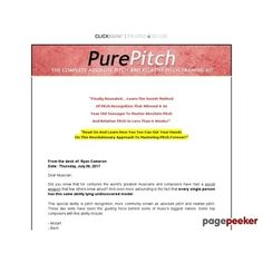 Pure Pitch Method - Master Absolute Pitch & Relative Pitch  #BikeRiding #EatHealthyQuotes #Exercise #GetOutAndRun #Health #HealthyMeals #HealthyRecipes #LiveLonger #LoseWeight #LoseWeightInAWeek #WeightLoss http://ift.tt/2tYuBof