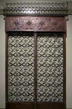 Louis Sullivan. Chicago Stock Exchange elevator doors, 1892. Chicago, Illinois.