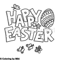 Happy Easter Coloring Page #134