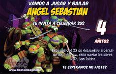 vamos a celebrar una increíble fiesta con Nuevas invitaciones de las Tortugas Ninja para imprimir y productos para decorar con globos, sorpresas, piñatas