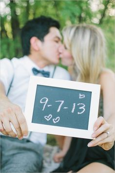 wedding date chalkboard