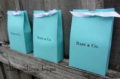 Tiffany Blue | Tiffany Blue Baby Shower | Tiffany Favor Boxes | by abbey and izzie designs