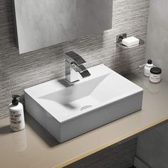 Sometimes simple is best, and a countertop basin is a great example of that. Shop round, square, oval and rectangular countertop basins in a varieties of sizes at Drench. Countertop Basin, Countertops, Fitted Bathroom Furniture, Small Kitchen Sink, Wall Mounted Basins, Compact Bathroom, Shower Fittings, Basin Taps, Basin Mixer