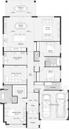 Eden Display Home - Lifestyle Floor Plan. I really like this kitchen configuration.