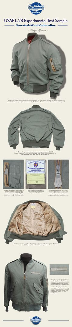 Buzz Rickson's USAF L-2B Flying Jacket Experimental Test Sample - Toyo Enterprise