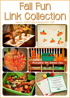 Fall Fun Link Collection from 1+1+1=1 {apples, fall, pumpkins}