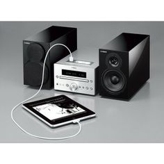 YAMAHA - Sound, design, the latest features. The is an executive style mini-system featuring iPhone, iPod and iPad compatibility among other advanced features bundled with a pair of elegant piano black finish speakers. Executive Fashion, Executive Style, Yamaha, Ipod, Monitor, Smartphone, Music Instruments, Mini, Tv