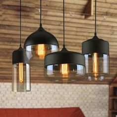 These Modern Nordic Glass Pendant Light are something totally different and will add modern vintage look to any living room, dining room or hallway.Light up any spaces in modern nordic style with this stunning hanging glass pendant light. Kitchen Pendant Lighting, Kitchen Pendants, Glass Pendants, Pendant Lamps, Bar Pendant Lights, Ceiling Lights For Kitchen, Kitchen Chandelier, Kitchen Fixtures, Glass Kitchen