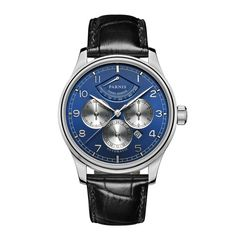 225.00$  Buy now - http://alinkz.worldwells.pw/go.php?t=32740103554 - Parnis Pilot II Seriers Luminous Mens Leather Watchband  Fashion Automatic Mechanical Watch Wristwatch 225.00$