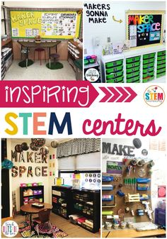 My students love STEM so they're going to be super excited to see these inspiring STEM centers! It's great for kindergarten or first grade classroom! Space Classroom, Classroom Setup, Classroom Design, Science Classroom, Teaching Science, Future Classroom, Kindergarten Centers, Kindergarten Classroom, Math Centers