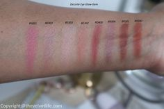 Decorte Eye Glow Gem new shades review and swatches Pink Bottle, Eye Primer, Colorful Eyeshadow, Luxury Beauty, Just The Way, Eyeshadow Palette, Smudging, Pretty In Pink