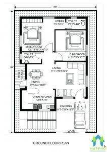 25 Home Design 30 X 40 Home Design 30 X 40 Best Of Image Result For 2 Bhk  Floor Plans Of 25 45 Door