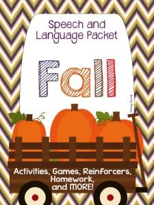 Fall Themed Speech and Language Packet - Speechy Musings