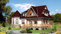 Locuintă mansardată în suprafață de 137 mp, ideală pentru familiile cu 3-4 membri Home Fashion, Verona, Cabin, Mansions, House Styles, Home Decor, Homes, Mansion Houses, Houses