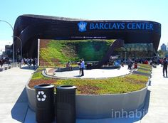 Barcley's Center - small transit pavilion green roof
