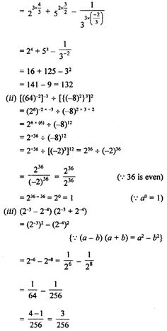 Selina Concise Mathematics Class 8 ICSE Solutions Chapter 2 Exponents (Powers) - A Plus Topper Gk Questions And Answers, This Or That Questions, Prime Factorization, Trigonometric Functions, Chemistry Notes, Maths Solutions, Class 8, Math Problems, Math Teacher