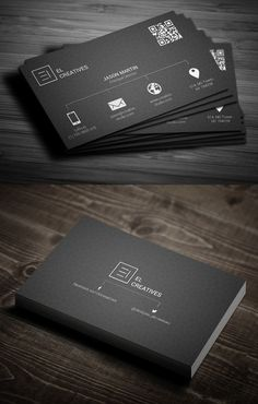 Creative corporate business cards design for you. All business card PSD templates are perfect for any kind of company, or even personal use. Business Cards Layout, Business Card Psd, Unique Business Cards, Professional Business Cards, Creative Business, Black Business Card, Logo Inspiration, Business Card Design Inspiration, Business Design