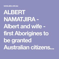 ALBERT NAMATJIRA - A
