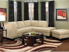 Oakdale 2-Piece Microsuede Sectional w/Right-Facing Chaise - Mushroom   The Brick