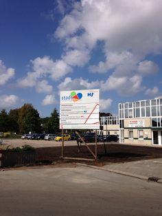 "2014 09 22 Nieuwe plek bouwbord ""herinrichting openbaargebied""."