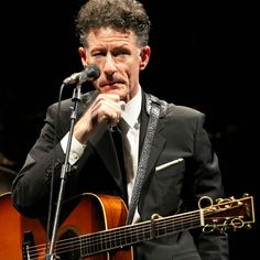 """""""It's really a lot easier to write about things that are problematic. Who wants to hear how happy you are?""""  ~ Lyle Lovett, b. 1 November 1957"""