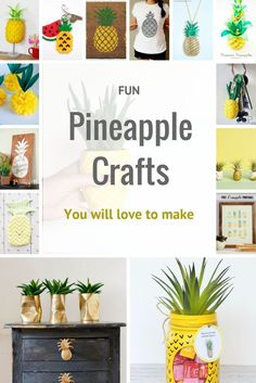 Houseplants That Filter the Air We Breathe Pineapples Are The King Of Fruits. Here Are 25 Of The Most Fun Pineapple Crafts You Will Love To Make. Easy Diy Crafts, Diy Craft Projects, Crafts To Make, Easy Crafts, Craft Ideas, Decor Ideas, Diy Ideas, Pineapple Room, Pineapple Gifts
