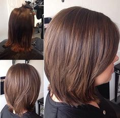 long layered bob with subtle highlights