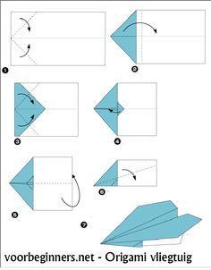 stappenplan papieren vliegtuig - Google zoeken